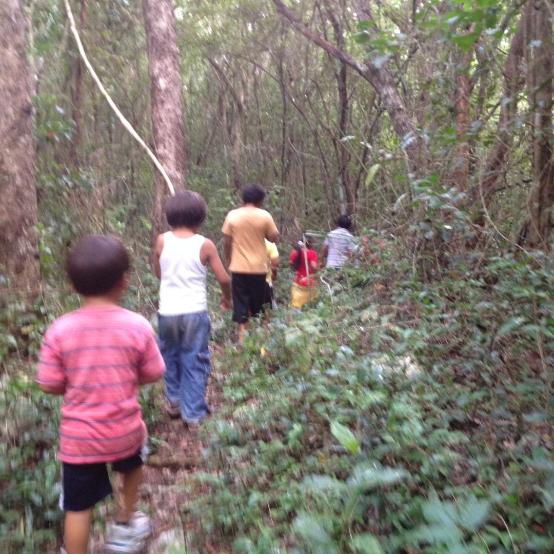 Paseo niños selva Pacchen